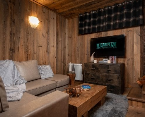 TV Room Flagship Chalet Loup Blanc Courchevel