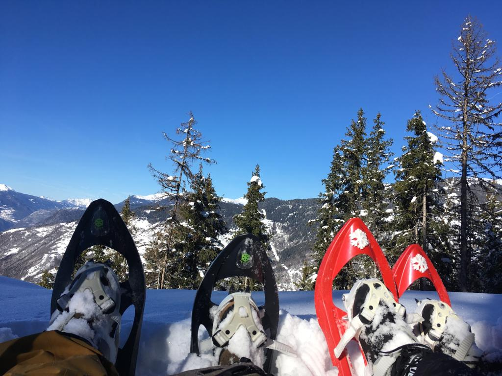 Snow-shoeing in Courchevel