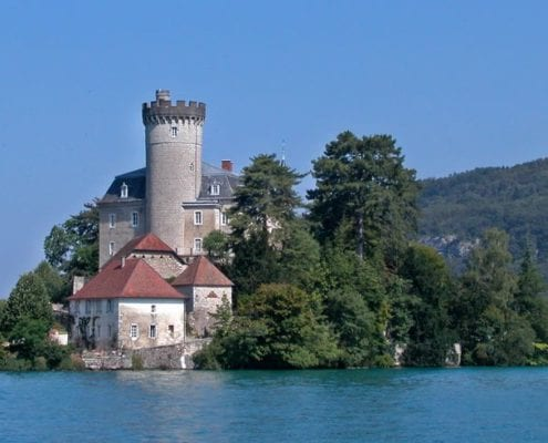 Summer in Lake Annecy Chateau Duingt